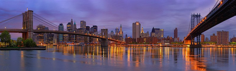 Brooklin Bridge and Manhattan Bridge Newyork, USA